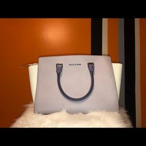 Micheal kors lilac multi lg to satchel leather